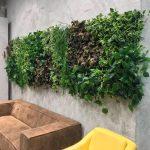 קיר ירוק מצמחייה מלאכותית של חברת קרת צמחייה מלאכותית