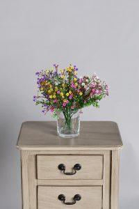 פרחים מלאכותיים 4 צבעים של קרת צמחייה מלאכותית