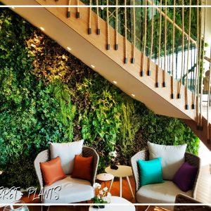 תמונה של קיר ירוק של חברת קרת צמחייה מלאכותית