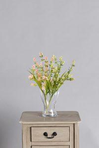 ענף חמציץ צבעים לבן ואפרסק של חברת קרת צמחייה מלאכותית